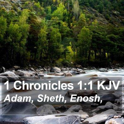 1 Chronicles 1:1 KJV Bible Verse Image