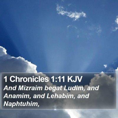 1 Chronicles 1:11 KJV Bible Verse Image
