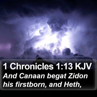 1 Chronicles 1:13 KJV Bible Verse Image