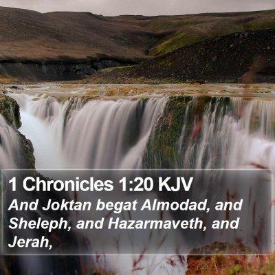 1 Chronicles 1:20 KJV Bible Verse Image