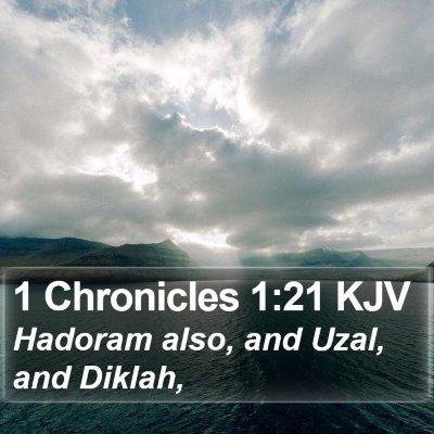 1 Chronicles 1:21 KJV Bible Verse Image