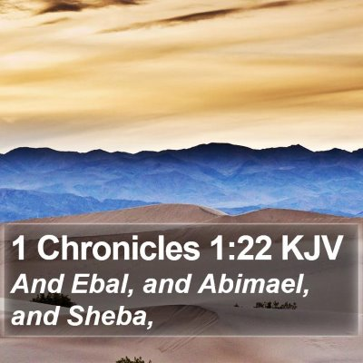 1 Chronicles 1:22 KJV Bible Verse Image
