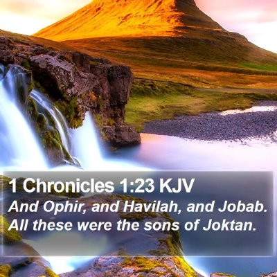 1 Chronicles 1:23 KJV Bible Verse Image