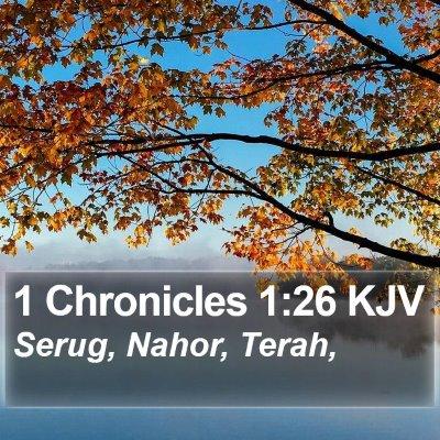 1 Chronicles 1:26 KJV Bible Verse Image