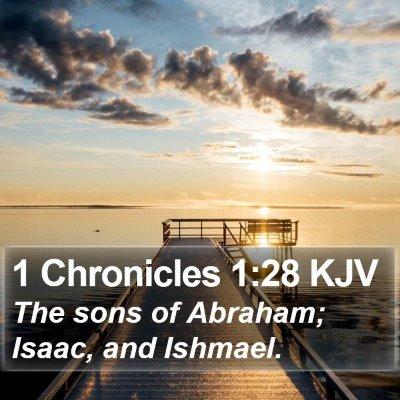 1 Chronicles 1:28 KJV Bible Verse Image