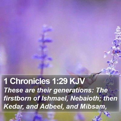 1 Chronicles 1:29 KJV Bible Verse Image