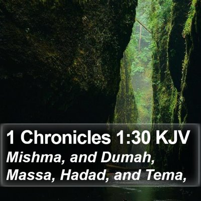 1 Chronicles 1:30 KJV Bible Verse Image
