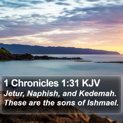 1 Chronicles 1:31 KJV Bible Verse Image