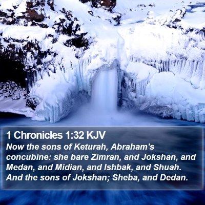 1 Chronicles 1:32 KJV Bible Verse Image