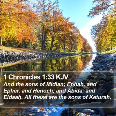 1 Chronicles 1:33 KJV Bible Verse Image