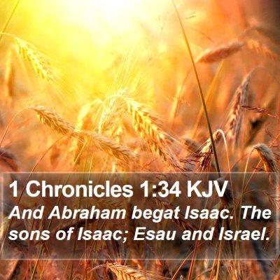 1 Chronicles 1:34 KJV Bible Verse Image