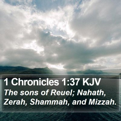 1 Chronicles 1:37 KJV Bible Verse Image