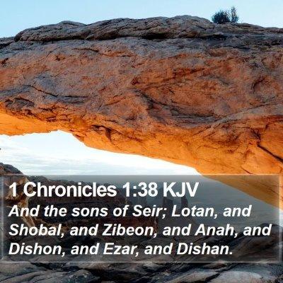 1 Chronicles 1:38 KJV Bible Verse Image