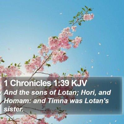 1 Chronicles 1:39 KJV Bible Verse Image