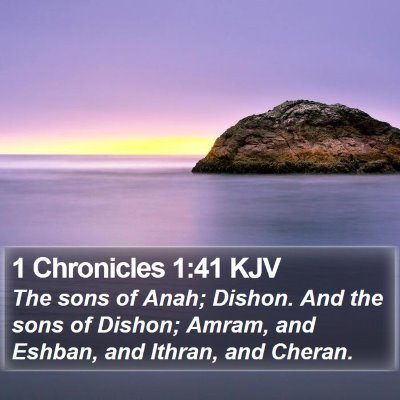 1 Chronicles 1:41 KJV Bible Verse Image