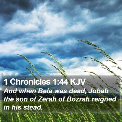 1 Chronicles 1:44 KJV Bible Verse Image