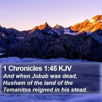 1 Chronicles 1:45 KJV Bible Verse Image