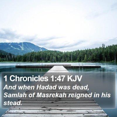 1 Chronicles 1:47 KJV Bible Verse Image