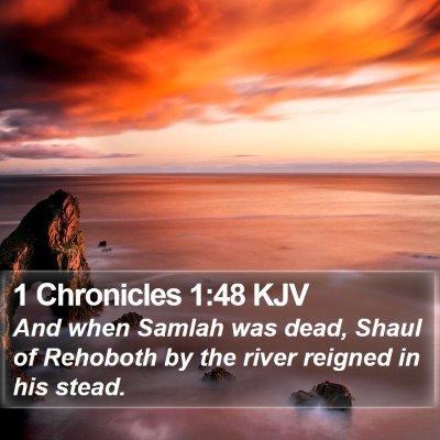 1 Chronicles 1:48 KJV Bible Verse Image