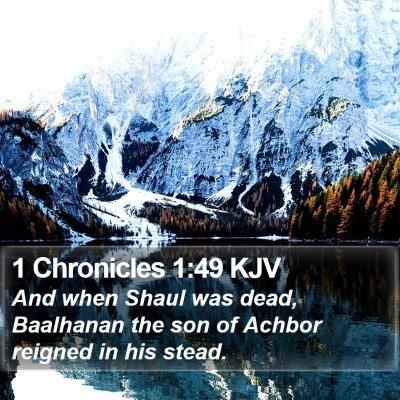 1 Chronicles 1:49 KJV Bible Verse Image
