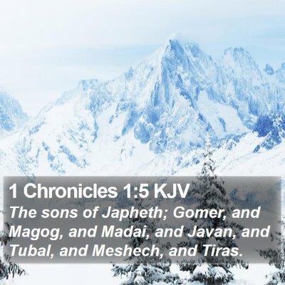 1 Chronicles 1:5 KJV Bible Verse Image