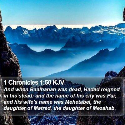 1 Chronicles 1:50 KJV Bible Verse Image