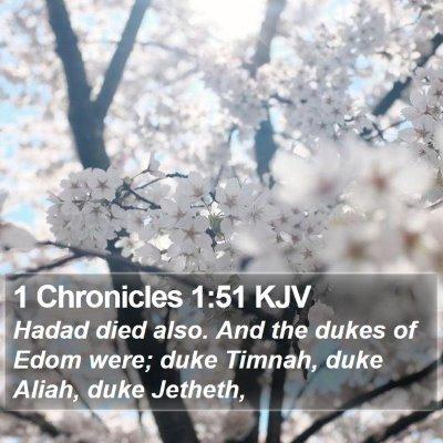 1 Chronicles 1:51 KJV Bible Verse Image