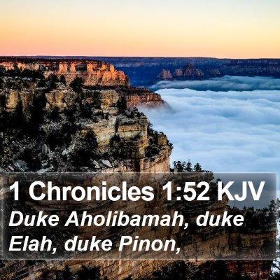 1 Chronicles 1:52 KJV Bible Verse Image
