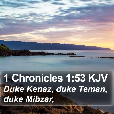 1 Chronicles 1:53 KJV Bible Verse Image