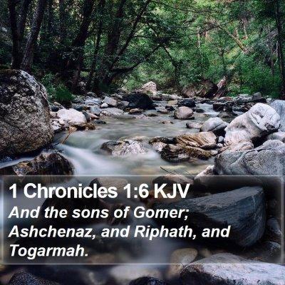1 Chronicles 1:6 KJV Bible Verse Image