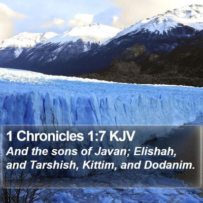 1 Chronicles 1:7 KJV Bible Verse Image