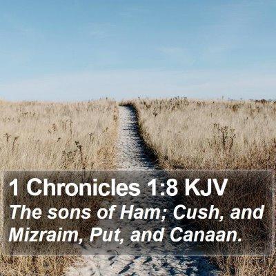 1 Chronicles 1:8 KJV Bible Verse Image