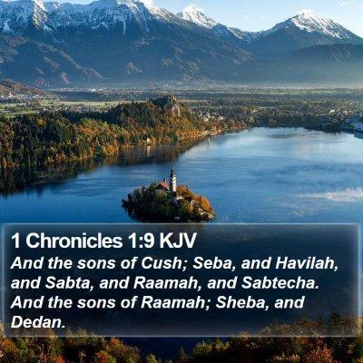 1 Chronicles 1:9 KJV Bible Verse Image