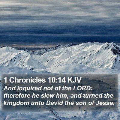 1 Chronicles 10:14 KJV Bible Verse Image
