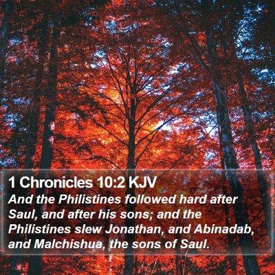 1 Chronicles 10:2 KJV Bible Verse Image