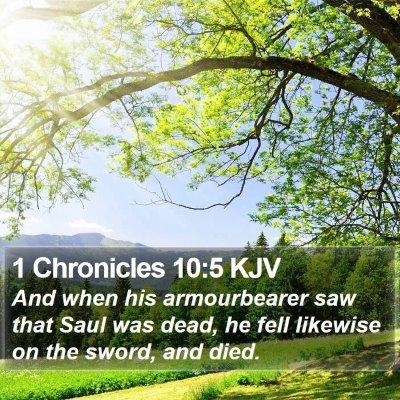 1 Chronicles 10:5 KJV Bible Verse Image
