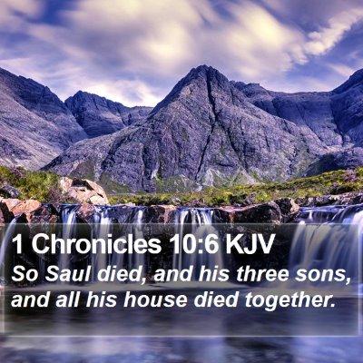 1 Chronicles 10:6 KJV Bible Verse Image