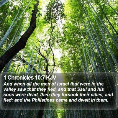 1 Chronicles 10:7 KJV Bible Verse Image