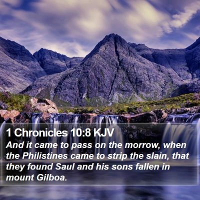 1 Chronicles 10:8 KJV Bible Verse Image