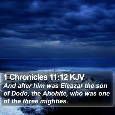1 Chronicles 11:12 KJV Bible Verse Image