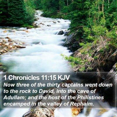 1 Chronicles 11:15 KJV Bible Verse Image