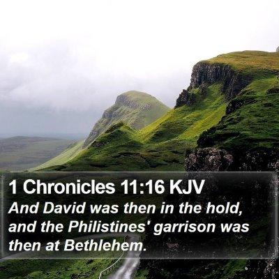 1 Chronicles 11:16 KJV Bible Verse Image