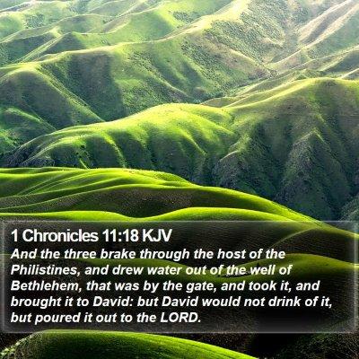1 Chronicles 11:18 KJV Bible Verse Image