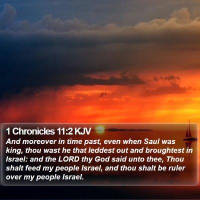 1 Chronicles 11:2 KJV Bible Verse Image