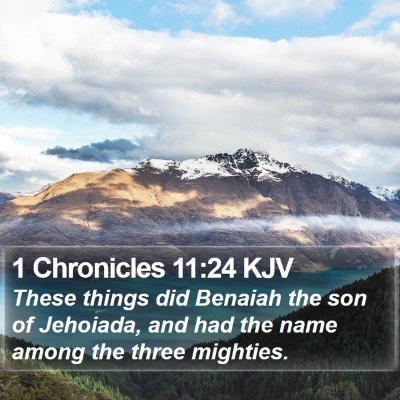 1 Chronicles 11:24 KJV Bible Verse Image