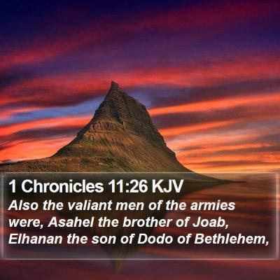 1 Chronicles 11:26 KJV Bible Verse Image