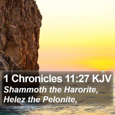 1 Chronicles 11:27 KJV Bible Verse Image