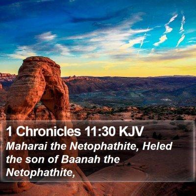 1 Chronicles 11:30 KJV Bible Verse Image