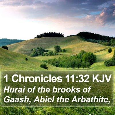 1 Chronicles 11:32 KJV Bible Verse Image