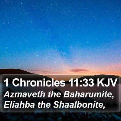 1 Chronicles 11:33 KJV Bible Verse Image